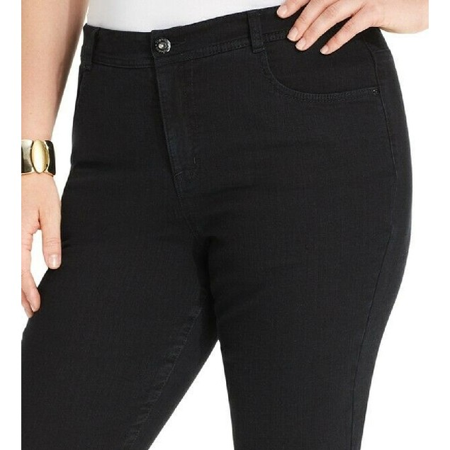 Style & Co Women's Plus Stretch Straight Leg Jeans 24Wp Blue Size 24