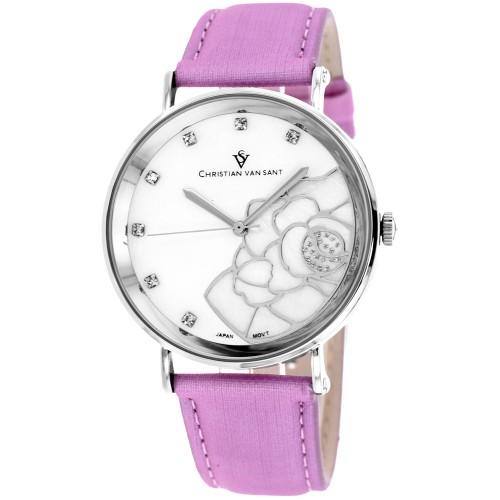 Christian Van Sant Women's Fleur White MOP Dial Watch - CV2213