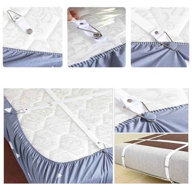 jajaplus Bed Sheet Grippers Fasteners Holders Band  Suspenders Straps Clips