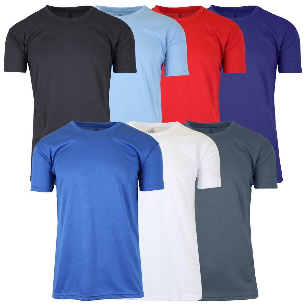 6-Pack Assorted Men's Moisture Wrinkle Free Performance Tee w/ Reflective Stripe