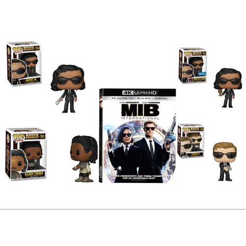 Men In Black International Funko The Ultimate Holiday Collection Gift Set! 4 Full Size Funko Pops from the Movie , and The 4K Blu Ray Movie