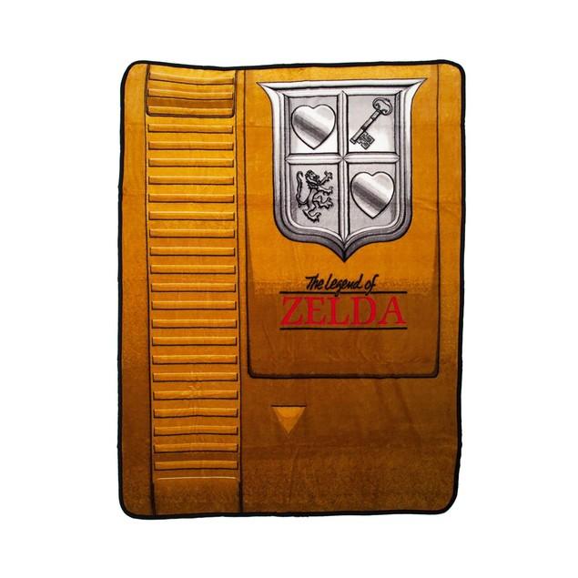 Nintendo Zelda Gold Cartridge Throw Link Legend Of NES Blanket