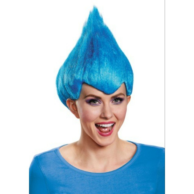 Blue Wacky Wig Adult Thing 1 2 Gnome Clown Doll Costume Team Dr. Seuss 90's