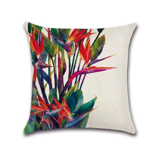 Tropical Plants Decorative Pillowcases Hypoallergenic (Heliconia)
