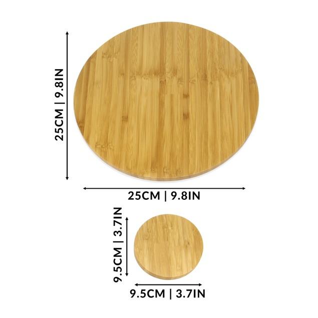 Bamboo Circle Placemats and Coasters   MandW