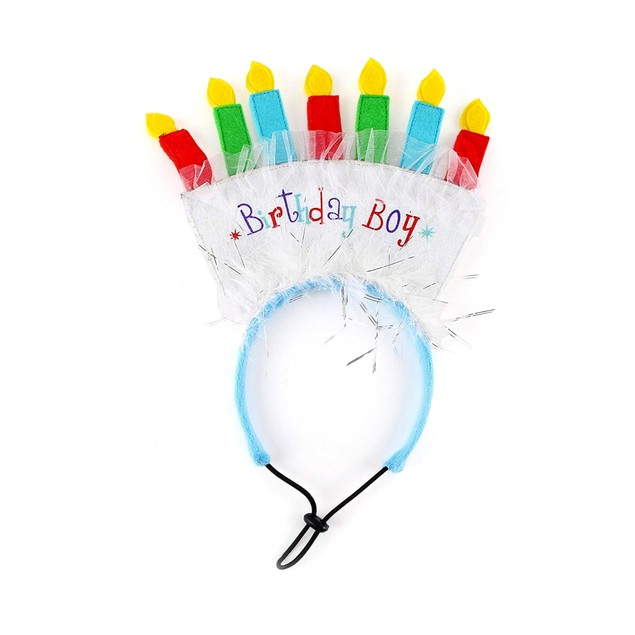 Midlee Birthday Dog Headband (Birthday Boy)