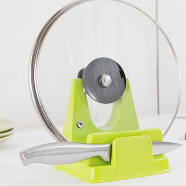 Spoon Rack Rest Pot Pan Lid Rack Stand Holder Kitchen Cooking Utensil Tool