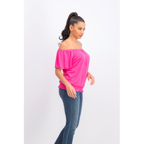 Style & Co Women's Convertible Off-The-Shoulder Top  Pink Size Medium