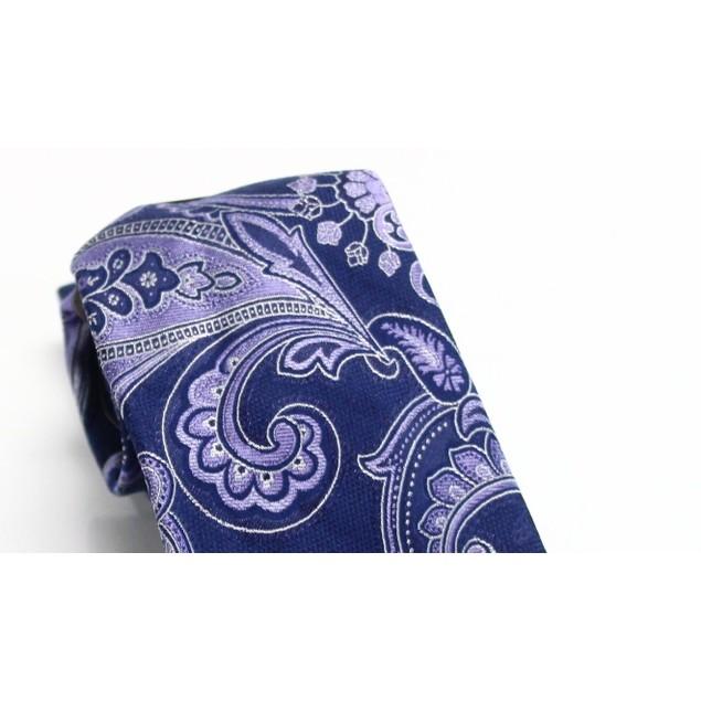 Tasso Elba Men's Paisley Tie Purple Size Regular