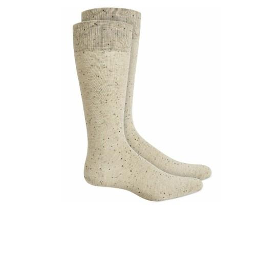 Alfani Men's Speckled Socks Beige Size Regular