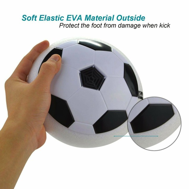 Hovering Soccer Ball Disk Toy with Flashing LEDs and Music