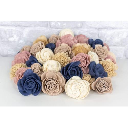 Sola Wood Flowers Making Memories Assortment 25/50 Pack