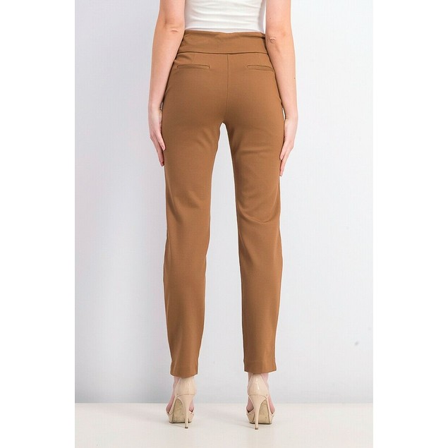 Charter Club Women's Cambridge Pull-On Ponte Pants Brown Size 10