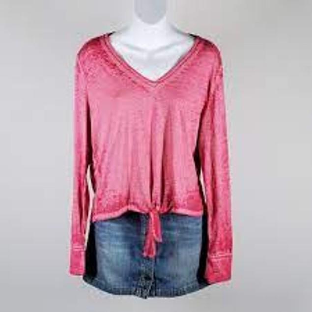 American Rag Juniors' Textured Tie-Waist Top Pink Size X-Small