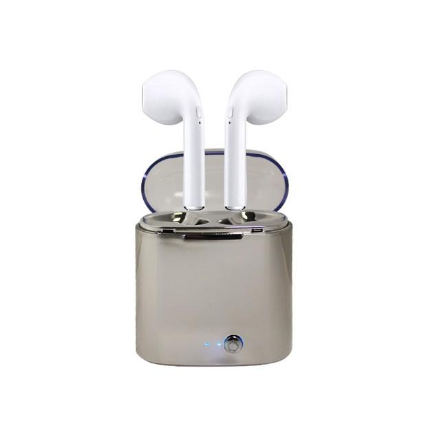Metallic Wireless Earphones with Charging Case