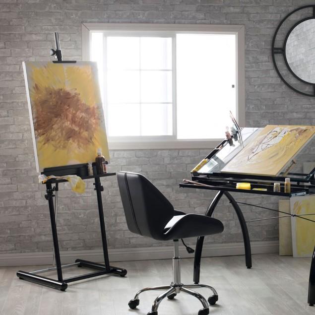 Offex Height Adjustable Floor Standing Deluxe Display Easel - Black