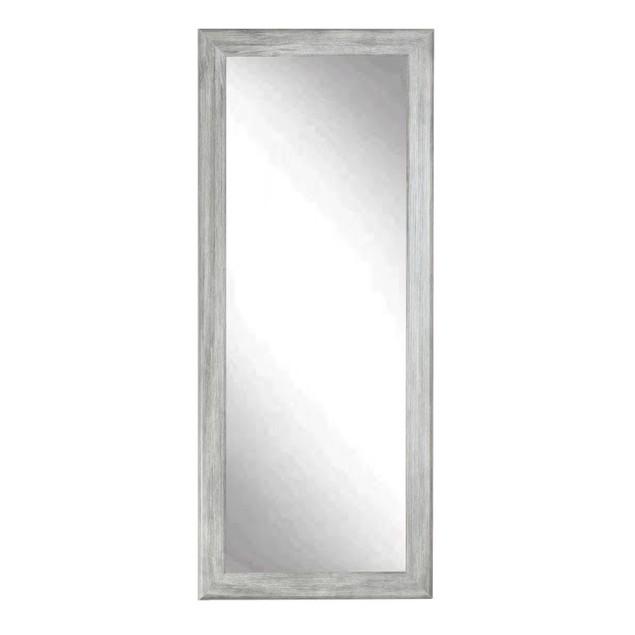"BrandtWorks Perfect Durable Weathered Barnwood Floor Mirror - 33"" x 67"""