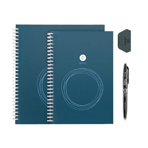 Rocketbook Wave Reusable Smart Notebook Bundle w/ PenStation & Pen