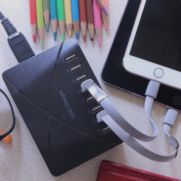 8 Port USB Portable Output Charger