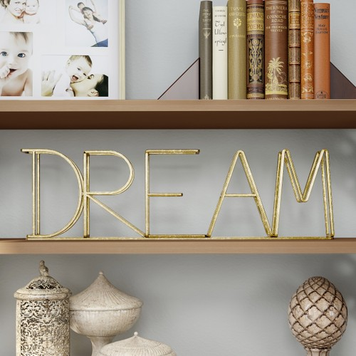 """""""DREAM"""" Metal Cutout Free-Standing Table Top"""