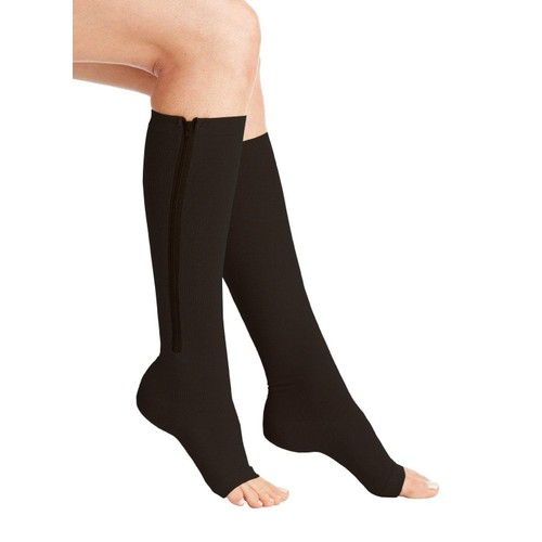 Open Toe/Zip Up Compression Socks