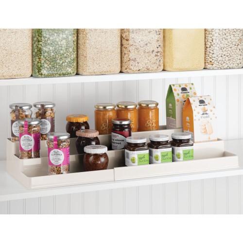mDesign Large Expandable Spice Rack, Kitchen Storage Organizer
