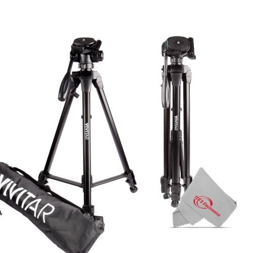 """New 62"""" Vivitar Pro Tripod with Case for Canon XA15 XA11 Vixia HF G21"""