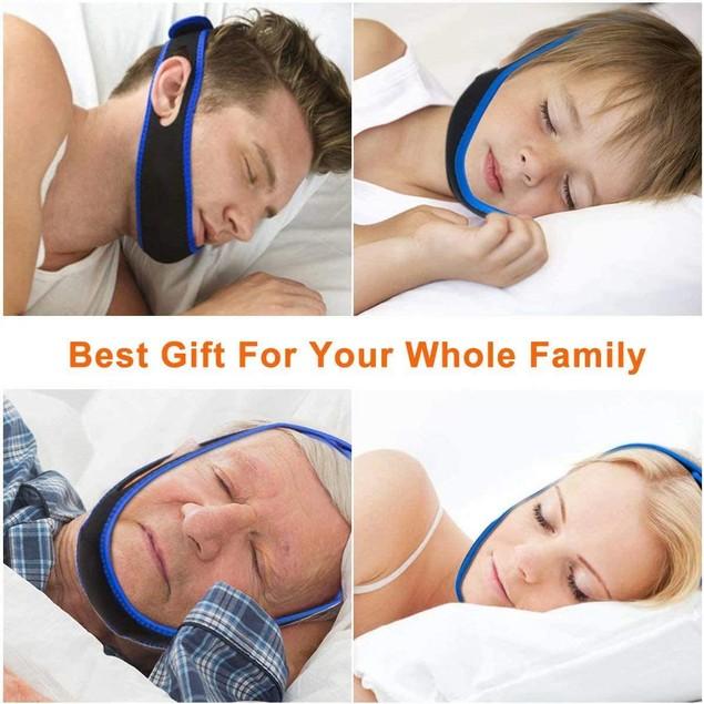 Anti Snoring Chin Strap Stop Snoring Devices Sleep Belt for Men Women