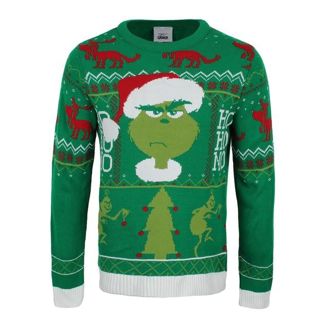Grinch - Ho Ho No Unisex Christmas Jumper Large