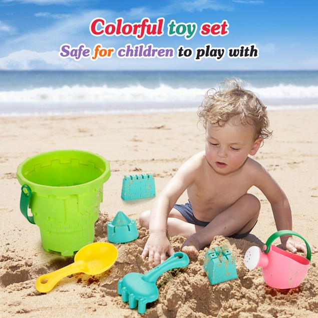 Fitnate Beach Toys Set Soft Plastic Pool Toys / Bath Toys  (BPA Free)