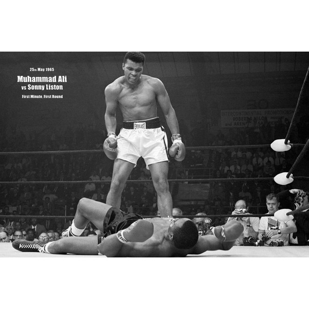 Muhammed Ali vs Sonny Liston Poster 36 x 24 Boxing Gift