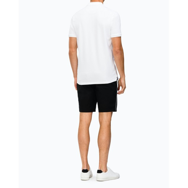 Calvin Klein Men's Chest Ck Logo Polo Shirt White Size X-Small