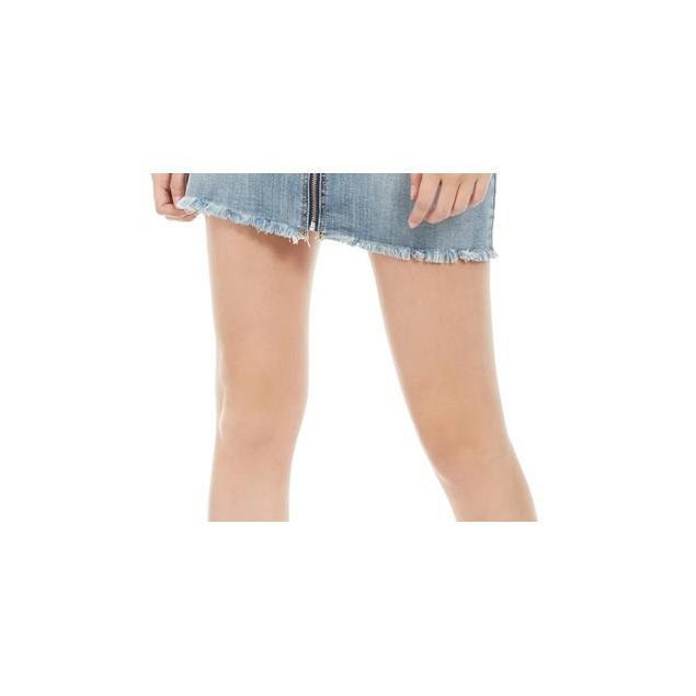 Indigo Rein Juniors' Zippered Denim Skirt Med Blue Size 3