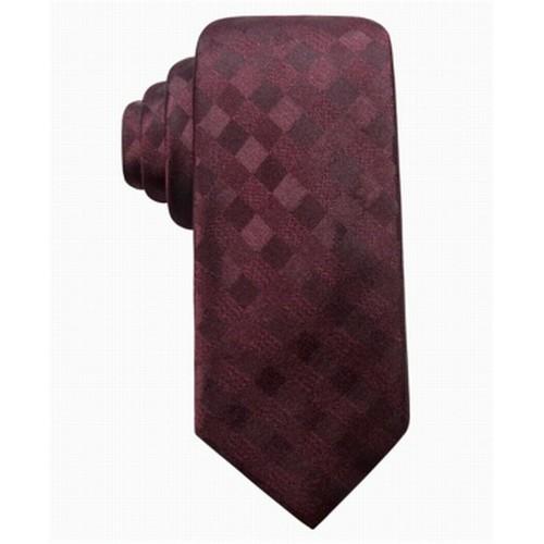 Ryan Seacrest Men's San Leo Gingham Tie Red One Size