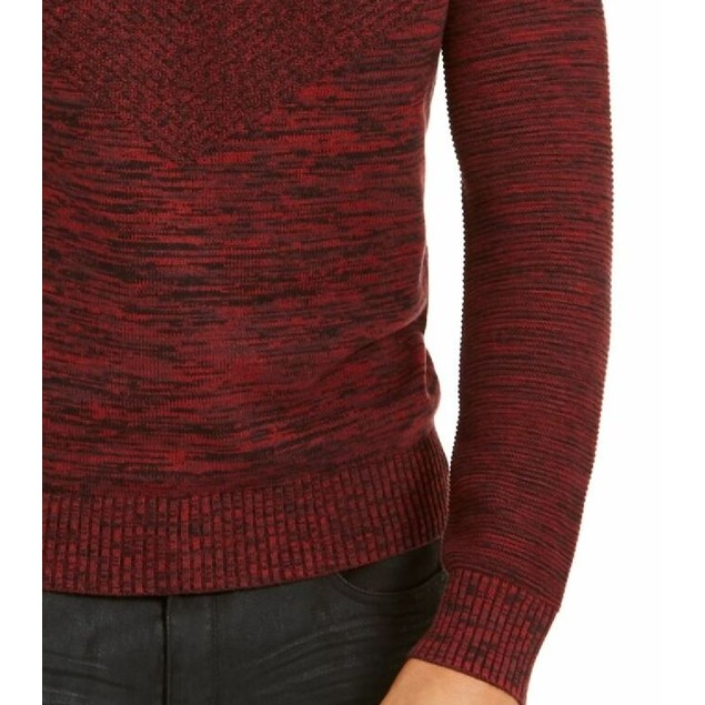 INC International Concepts Monster Ribbed Knit Hooded Sweater Wine XL