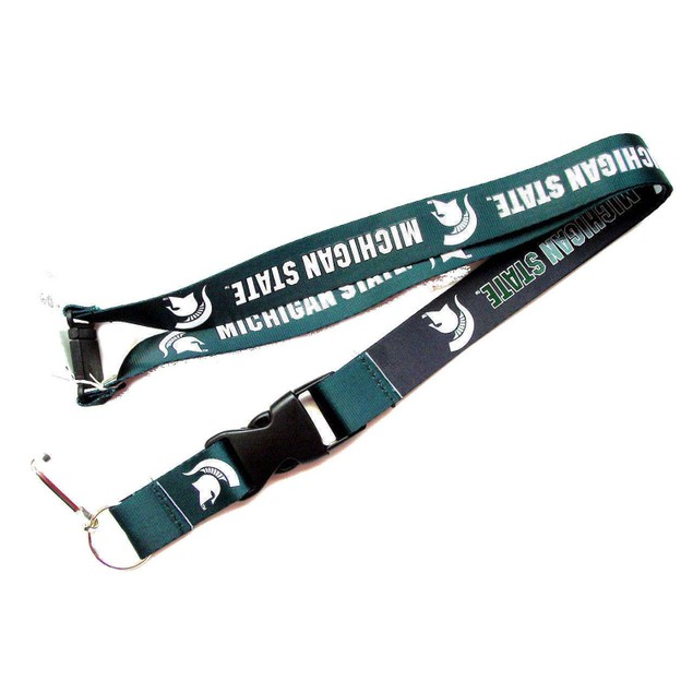 Michigan State Spartans Reversible Clip Lanyard Keychain Id Ticket Holder