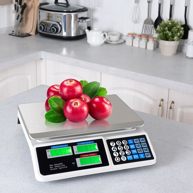 66Lbs Digital Weight Scale Price Computing Retail Count Scale Food Meat Sca