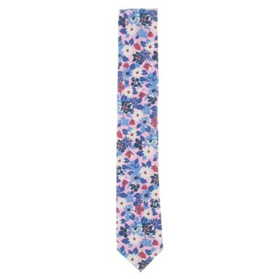 Tommy Hilfiger Men'ss Bright Floral Silk Printed Neck Tie Pink Size Regular