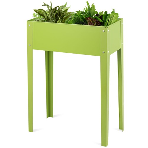 Costway 24'' x12'' Outdoor Elevated Garden Plant Stand Raised Tall Flower B