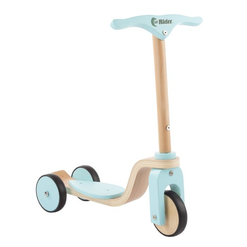 Kids Wooden Scooter-Beginner Push Steering Handlebar