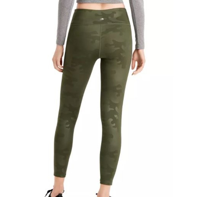 Ideology Women's Cool Camo Printed Leggings Green Size Small