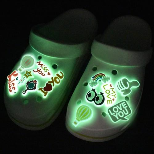 25-Piece Glow in Dark Croc Shoe Charms