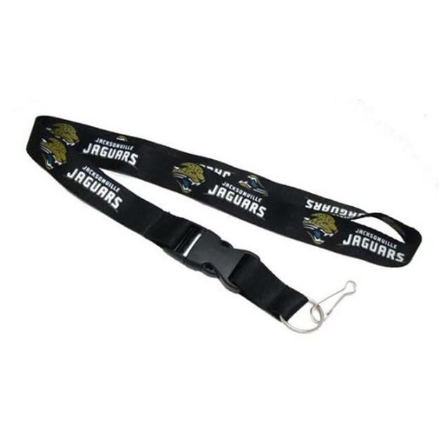 Jacksonville Jaguars Lanyard Keychain Id Ticket - Black