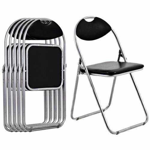 Costway 6 PCS U Shape Folding Chairs Furniture Home Outdoor Picnic Portable