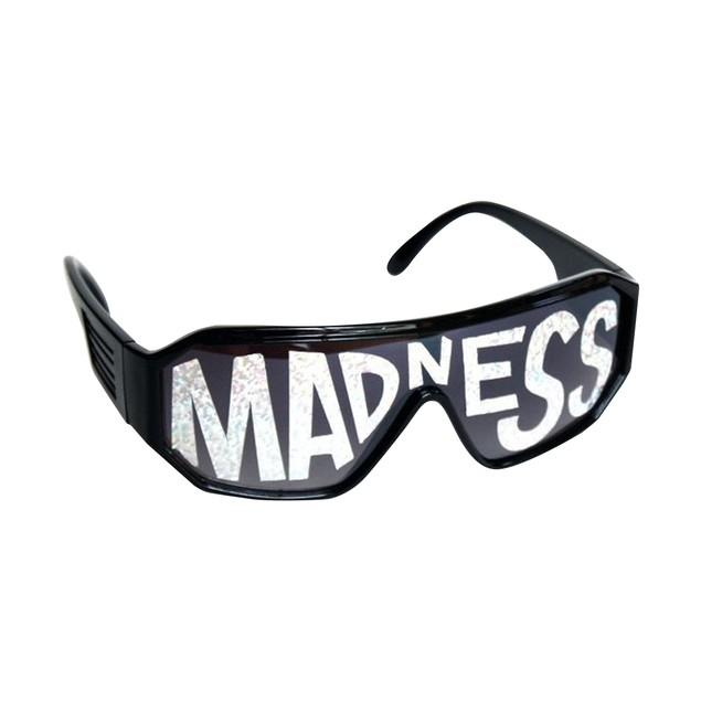 Macho Wrestler Sunglasses Silver Madness on Black Lens with Black Frame