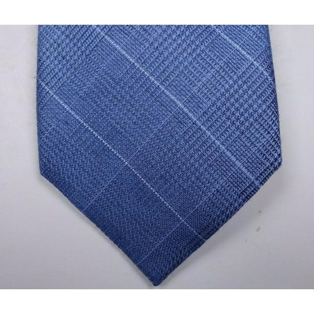 Michael Kors Men's Light Blue Plaid Diamond Neck Tie Blue Size Regular