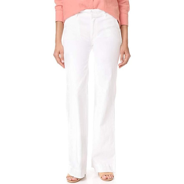 Hudson Women's Joplin Wide Leg Trouser Jeans, White,  Sz 31