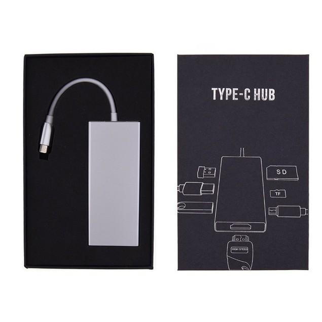 6in1 Type-C To HD HDMI 3 USB3.0 Hub USB-C Adapter Hub Converter