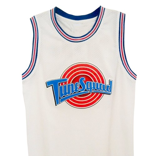 Daffy Duck #2 Tune Squad White Basketball Jersey