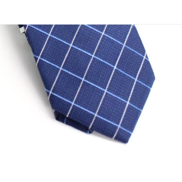 Club Room Men's Classic Grid Tie Blue Size Regular